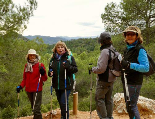 Caminant amb unes bones vistes a la Serra Major i el Priorat